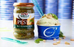 Sacla' Pesto, No.1 Classic Basil + Oddono's Pesto Gelati Ice Cream