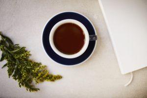 Photograph from above of an Origin Coffee - Photograph Jon Attenborough