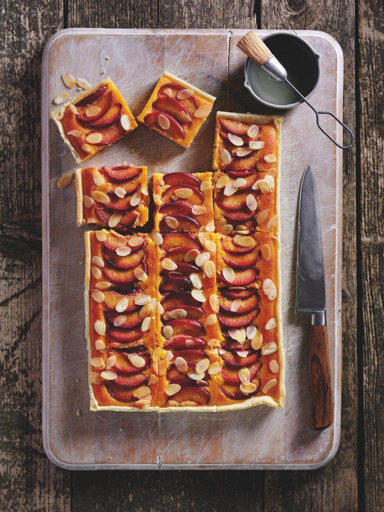 carob plum slice
