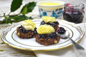 Chocolate and cherry scones